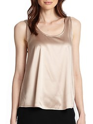 Giorgio Armani Stretch Silk Satin Shell Storm