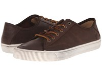 Frye Miller Low Lace Dark Brown Waxed Vintage Leather Men's Lace Up Casual Shoes