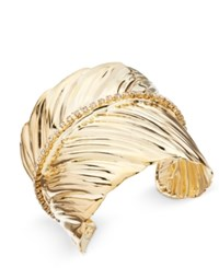 Thalia Sodi Gold Tone Crystal Leaf Cuff Bracelet Only At Macy's