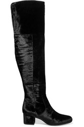 Sam Edelman Elina Velvet Over The Knee Boots Black