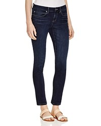 Eileen Fisher Organic Cotton Skinny Jeans In Washed Indigo Whind