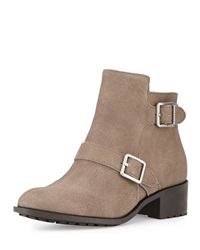 Cole Haan Rooney Double Buckle Leather Bootie Graystone