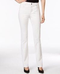 Charter Club Petite Straight Leg Jeans White Only At Macy's Bright White