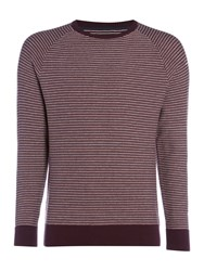 Criminal Jensen Stripe Jumper Plum