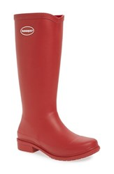 Havaianas Women's 'Galochas Hi Matte' Waterproof Rain Boot Ruby Red
