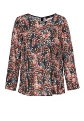 Hallhuber Floral Print Silk Blouse Multi Coloured Multi Coloured