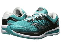 Saucony Triumph Iso 2 Teal Black White Women's Shoes Blue