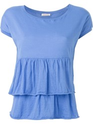 P.A.R.O.S.H. Tiered Scoop Neck Top Blue