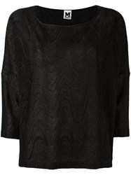 M Missoni Oversized Knitted Top Black