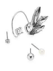 Jules Smith Designs Joan Jett Ear Cuff And Stud Earrings Set Silver