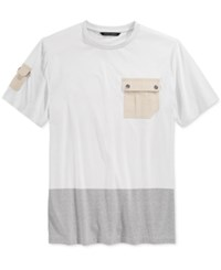 Sean John Men's Flight T Shirt Platinum