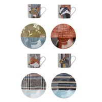 Magpie Beasties Espresso Cup And Saucer Set Of 4