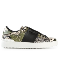Valentino Garavani 'Open' Low Sneakers Black
