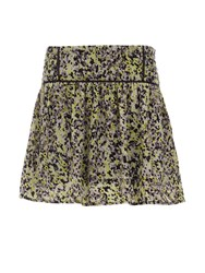 Morgan Patterned Flared Skirt Yellow