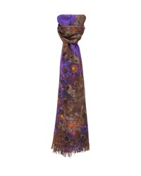 Akris Enchanted Floral Print Cashmere Blend Scarf Multi Colors