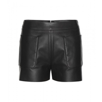 Balenciaga Leather Shorts Noir Navy