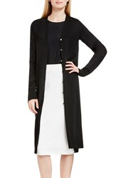 Vince Camuto Women's V Neck Maxi Cardigan Rich Black