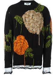 Msgm Abstract Embroidery Jumper Black