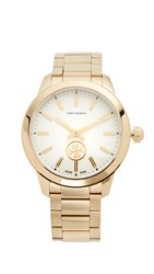 Tory Burch Collins Watch Ivory Gold