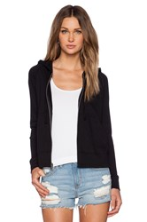 James Perse Classic Zip Up Hoodie Black