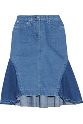 Sacai Flared Denim Skirt Mid Denim