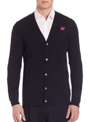 Mcq By Alexander Mcqueen Swallow Front Button Cardigan Black