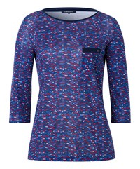 Olsen Digital Dots T Shirt Navy