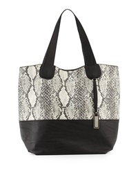Urban Originals Coogee Snake Print Tote Bag Black Gray