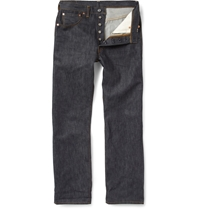 Levi's 501 Shrink To Fit Selvedge Denim Jeans Blue