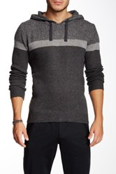 Yoki Colorblock Hooded Sweater Gray