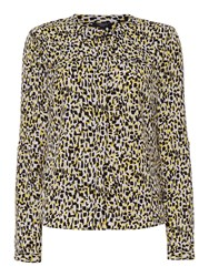 Therapy Mark Maker Print Blouse Yellow
