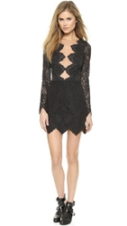 For Love And Lemons Noir Lace Mini Dress Black