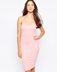 Ax Paris Midi Cami Dress With Strap Detail Pink