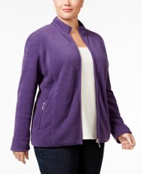 Karen Scott Plus Size Fleece Jacket Only At Macy's Cassis
