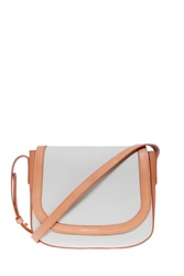 Mansur Gavriel Canvas Cross Body Bag Beige