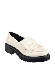 Nine West Account Platform Loafers Off White