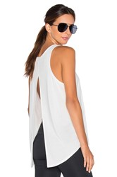 Solow Split Lounge Tank White