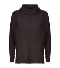 Armani Collezioni Cowl Neck Cashmere Jumper Female Dark Grey