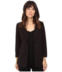 Kensie Stretch Crepe Longer Blazer Ks8k2s44 Black Women's Jacket