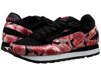 Radii Phuket Runner Black Satin Roses Men's Shoes Pink