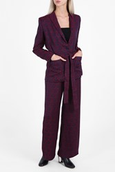 Rodebjer Printed Pyjama Jacket Purple