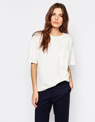 Selected Volva T Shirt With Pocket Snow White