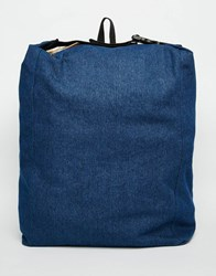 Asos Slouchy Backpack In Indigo Denim Indigo Blue
