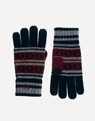 Fred Perry Fairisle Touch Screen Gloves Navy