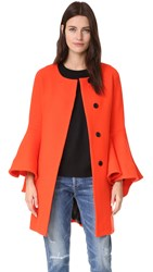 Milly Flare Sleeve Tie Coat Flame