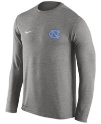 Nike Men's North Carolina Tar Heels Dri Fit Touch Long Sleeve T Shirt Heather Charcoal