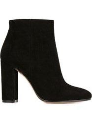 Gianvito Rossi Open Toe Booties Black