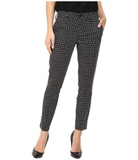 Level 99 Rose Slim Trousers Black Chess Women's Casual Pants