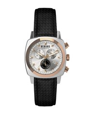 Versus By Versace Riverdale Stainless Steel Black Strap Chronograph Soi070015