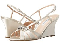 Nina Viani Ivory Women's Wedge Shoes White